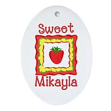 Sweet Mikayla Oval Ornament