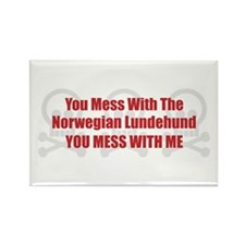 Mess With Lundehund Rectangle Magnet (100 pack)