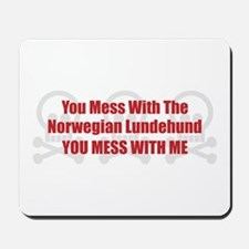 Mess With Lundehund Mousepad