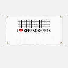 I love spreadsheets Banner