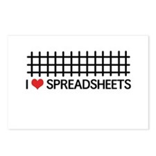 I love spreadsheets Postcards (Package of 8)