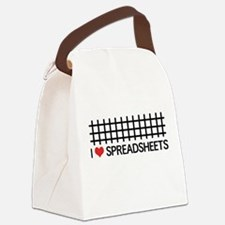 I love spreadsheets Canvas Lunch Bag