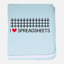 I love spreadsheets baby blanket