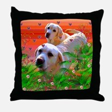 Golden Labrador Retrievers Throw Pillow