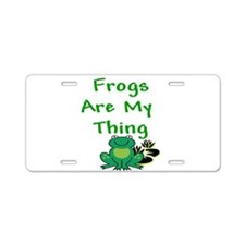 Frogs Are My Thing Aluminum License Plate