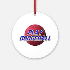Play Dodgeball Ornament (Round)