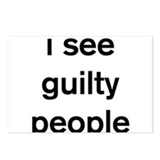 I see guilty people Postcards (Package of 8)
