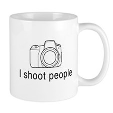 I shoot people camera Mugs