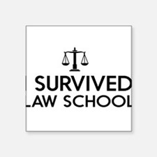 I survived law school Sticker