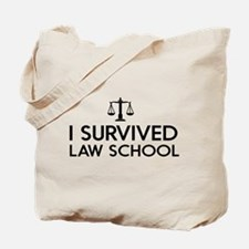 I survived law school Tote Bag