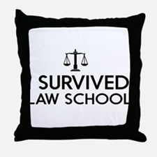 I survived law school Throw Pillow