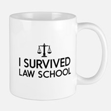 I survived law school Mugs