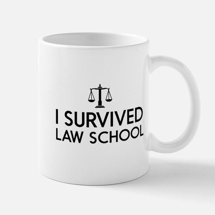 I survived law school Mugs