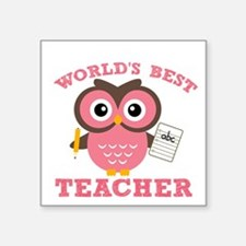 World's Best Teacher (Pink) Sticker