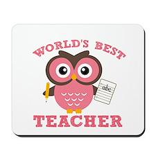 World's Best Teacher (Pink) Mousepad