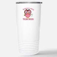 World's Best Teacher (Pink) Travel Mug