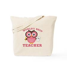 World's Best Teacher (Pink) Tote Bag