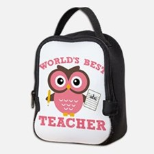 World's Best Teacher (Pink) Neoprene Lunch Bag