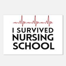 I survived nursing school Postcards (Package of 8)