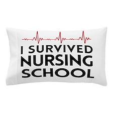 I survived nursing school Pillow Case