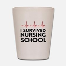 I survived nursing school Shot Glass