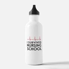 I survived nursing school Water Bottle