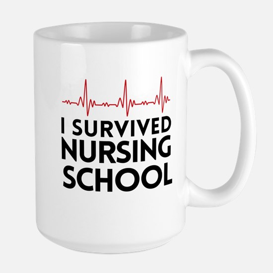 I survived nursing school Mugs