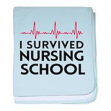 I survived nursing school baby blanket