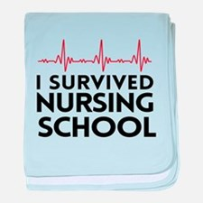 I survived nursing school baby blanket