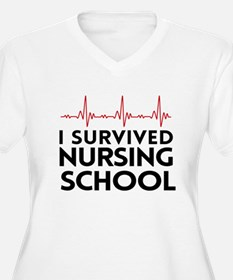I survived nursing school Plus Size T-Shirt