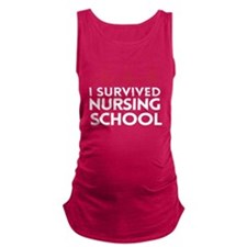 I survived nursing school Maternity Tank Top