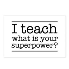 I teach what's your superpower Postcards (Package
