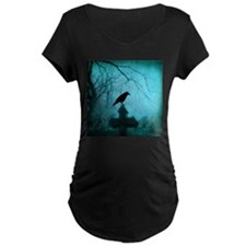 Blue Mist Crow Maternity T-Shirt