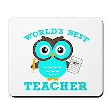 World's Best Teacher (Blue) Mousepad