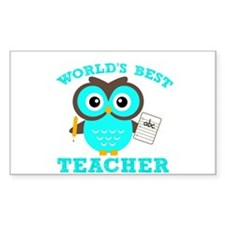 World's Best Teacher (Blue) Decal