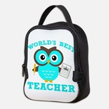 World's Best Teacher (Blue) Neoprene Lunch Bag