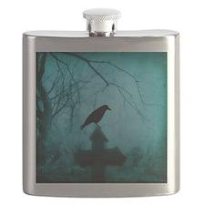 Cute Blackbird Flask