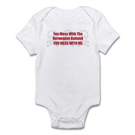 Mess With Buhund Infant Bodysuit