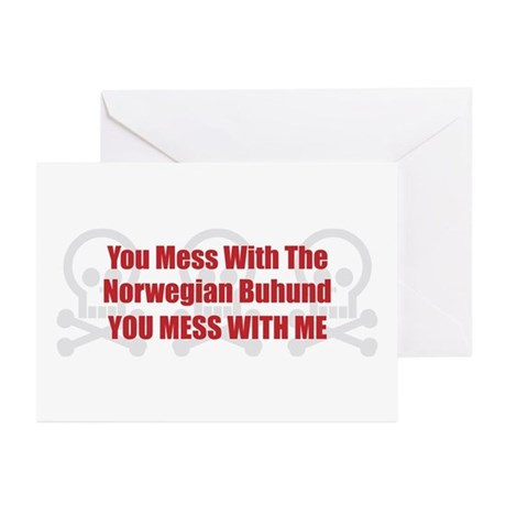 Mess With Buhund Greeting Cards (Pk of 10)