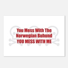 Mess With Buhund Postcards (Package of 8)