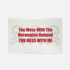 Mess With Buhund Rectangle Magnet (100 pack)