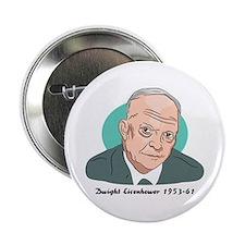 Dwight Eisenhower Button Badge