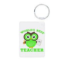 World's Best Teacher (Green) Keychains