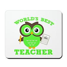World's Best Teacher (Green) Mousepad