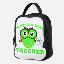 World's Best Teacher (Green) Neoprene Lunch Bag