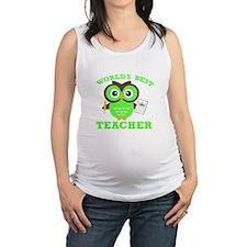 World's Best Teacher (Green) Maternity Tank Top