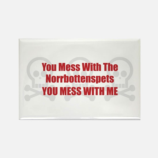Mess With Norrbottenspets Rectangle Magnet (100 pa
