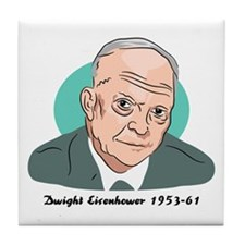 Dwight Eisenhower Tile Coaster