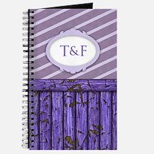 Maritime Monogram Purple Journal