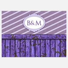 Maritime Monogram Purple 5x7 Flat Cards